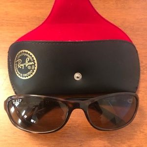 VGUC - Brown Unisex Ray Ban P Sunglasses OS